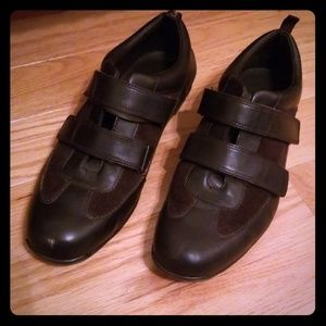 Calvin Klein Leather & Suede Velcro Shoes